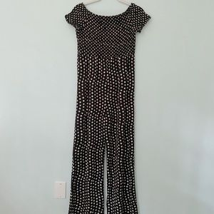 Black and white dotted romper!